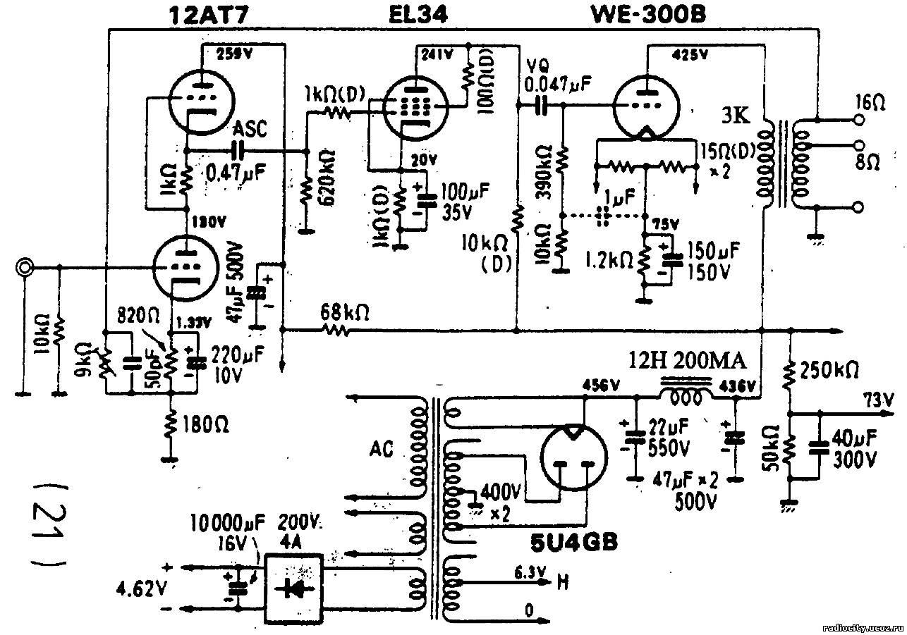 el34 схема усилителя