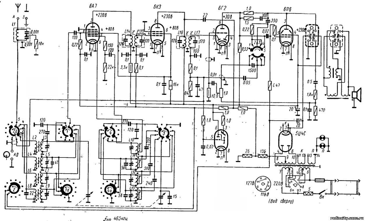 """Шестиламповый радиоприемник """"балтика"""" и его модернизации."""